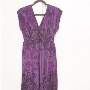 Wet Seal Dresses - Wet Seal Purple Floral Stretchy Dress size XL